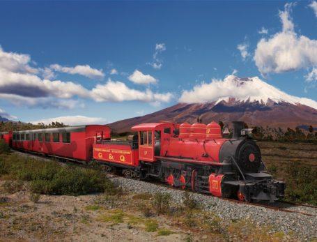 Tren Crucero vor dem Cotopaxi