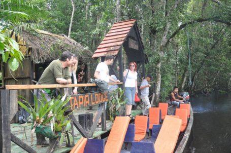 Steg der Tapir Lodge