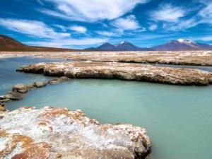 Lagunen in der Atacama-Wüste