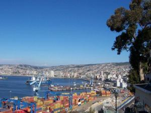 Blick über den Hafen von Valparaiso
