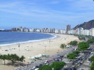Die Copacabana in Rio de Janeiro