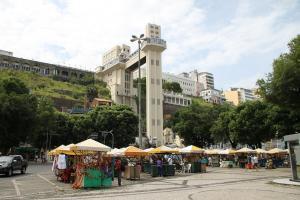 Blick auf den Aufzug in Salvador