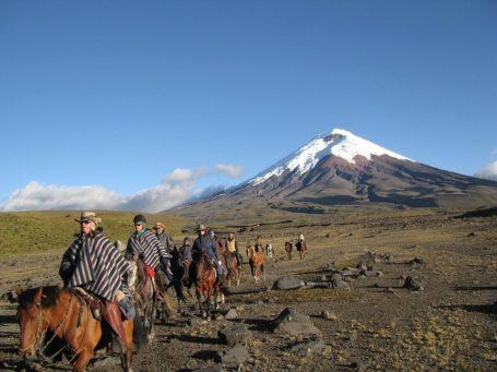 Reiter im Cotopaxi Nationalpark