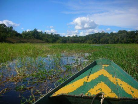 Kanu auf dem Amazonas