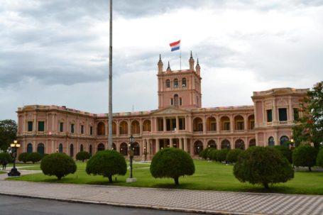 Der Präsidentenpalast in Asuncion