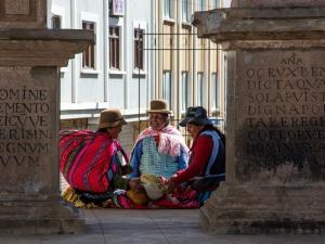 einheimische Frauen in Bolivien