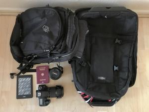 Ein Rucksack eignet sich ideal als Handgepäck