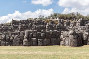 Die Ruinenanlage Sacsayhuaman bei Cusco