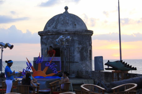 Abendstimmung im Cafe del Mar in Cartagena