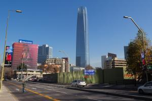 der Wolkenkratzer Gran Torre Santiago in Chile