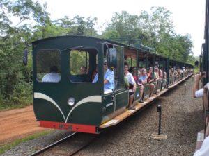 Eisenbahn auf der argentinischen Seite der Wasserfälle von Iguazu