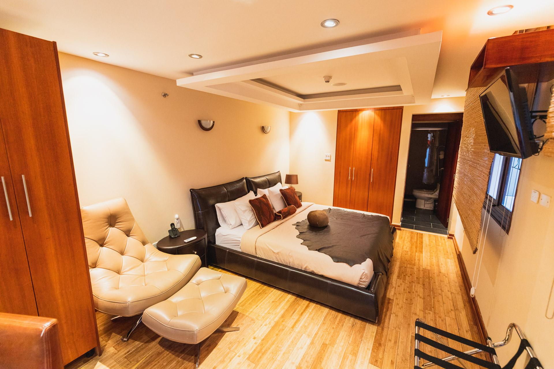 Geschmackvoll eingerichtete Suiten