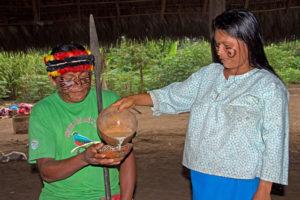 traditionelle Guayusa Zeremonie