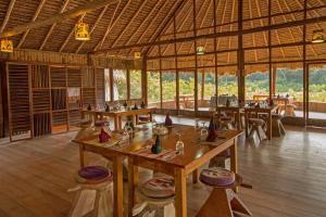 Restaurant der Kapawi Lodge