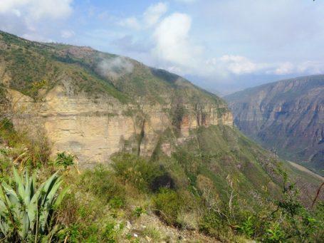 Blick in den Chicamocha Canyon