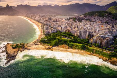 Rio de Janeiro: Luftbild von der Ipanema
