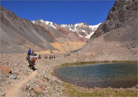 Reiter im Umland von Mendoza