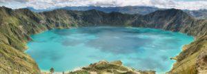 Panorama der Quilotoa-Lagune