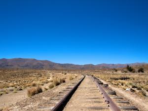 Bahngleise nach Uyuni