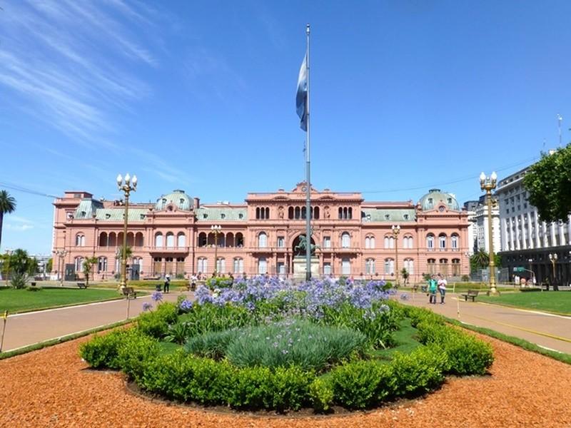 Regierungspalast Casa Rosada in Buenos Aires