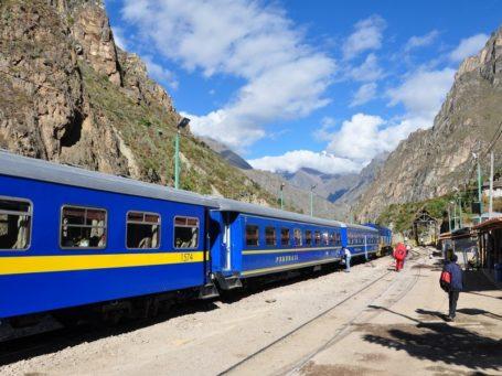Zugfahrt durch das Urubamba-Tal