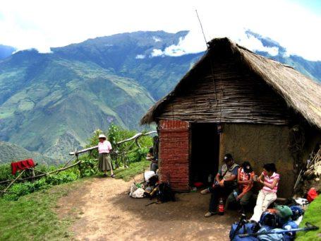Mittagspause in einer kleinen Hütte