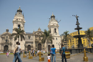 Die Plaza de Armas in Lima, Peru